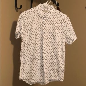 Kenneth Cole Reaction cotton pineapple shirt. New